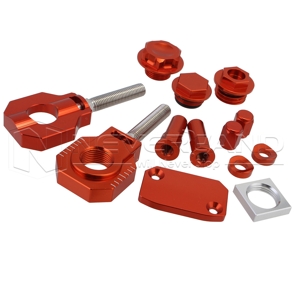 CNC Oil Filler Cyclinder Valve Caps For KTM 350 EXC-F 2015 SX SXF 125-505 2007-2012 EXC-F 250 350 2012-2015 Orange Bling Kit D25 aluminum alloy radiator for ktm 250 sxf sx f 2007 2012 2008 2009 2010 2011