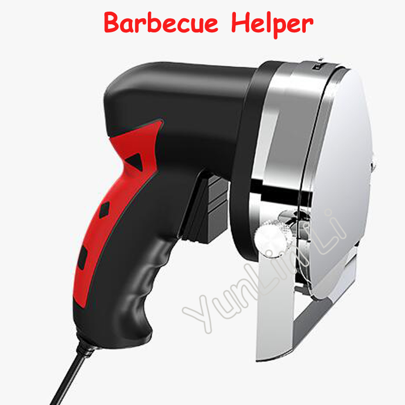 все цены на Electric Meat Cutting Helper Automatic Rotary Barbecue Circular Knife Scraper Meat Cutting Machine Barbecue Helper KS100E