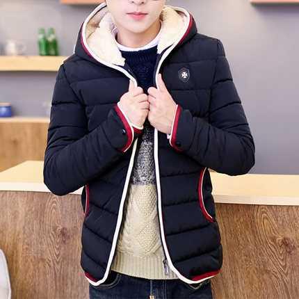 ФОТО New 2016 Spring Winter Jacket Men Brand High Quality Down Cotton Men Clothes Fashion Warm Mens Jackets Coats Black A4532