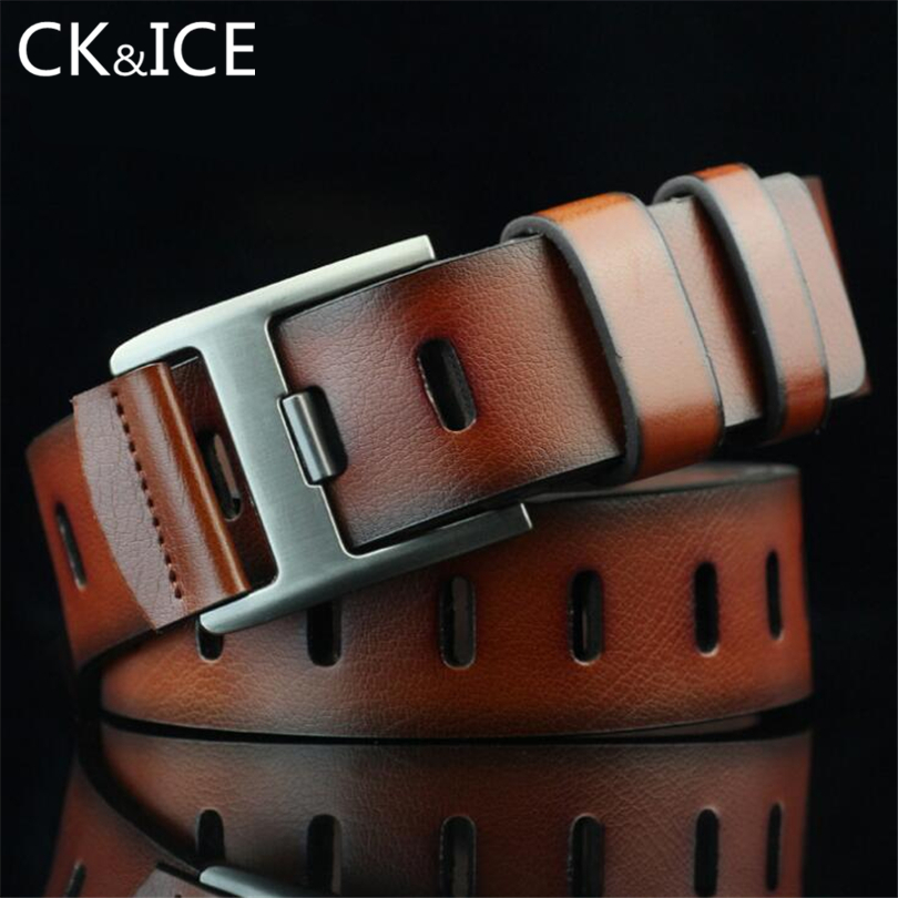 CK&ICE 2018 new brand fashion designer hot sale leather belt ,belts for men jeans leather,Top Layer leather Belts for men