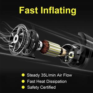 Image 4 - Pneu de carro inflator digital compressor de ar portátil 12v bomba pneu elétrico inflação para carro motocicleta