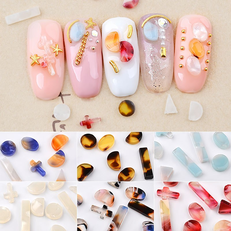 In Flavor Romantic Natural Riverstones Blooming Colorful Amber Stones Rhinestones Jewelry Decorations Charm Diy Manicure Nail Art Accessories Fragrant