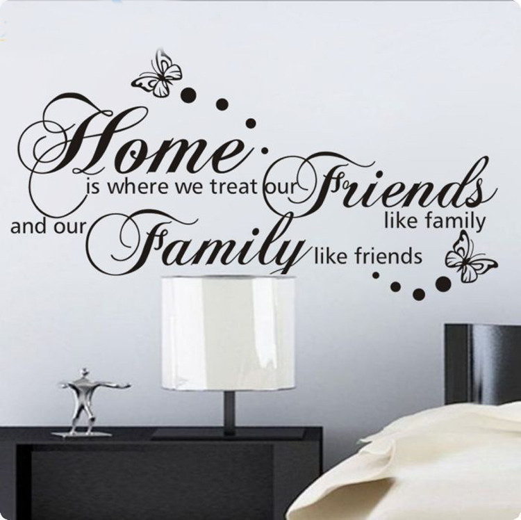 Free Shipping Family Is Vinyl Wall Lettering Quote Wall: Popular Christmas Friend Quotes-Buy Cheap Christmas Friend
