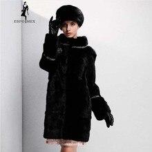 Young Fashion mink fur coat Brand fur coat 4 colors optional Genuine Leather fur coats for women Round neck mink