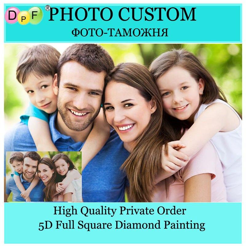 DPF Photo Personalizzata artigianato Piazza piena di Diamante Del Ricamo personalizzato Privata diamante pittura a punto croce di Fare Il Vostro Proprio diamante Mosaico