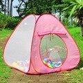 Dobrável ao ar livre indoor para crianças brincar de casinha em três lados gaze espaçosa tenda oceano piscina de bolinhas brinquedos pai-filho interação