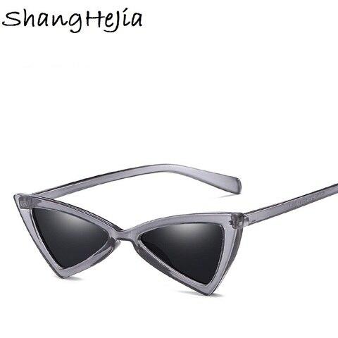 Small Triangle Cat Eye Sunglasses Women Fashion Vintage Cat Eyeglasses Female 2018 Stylish Sun Glasses UV400 Goggles Karachi