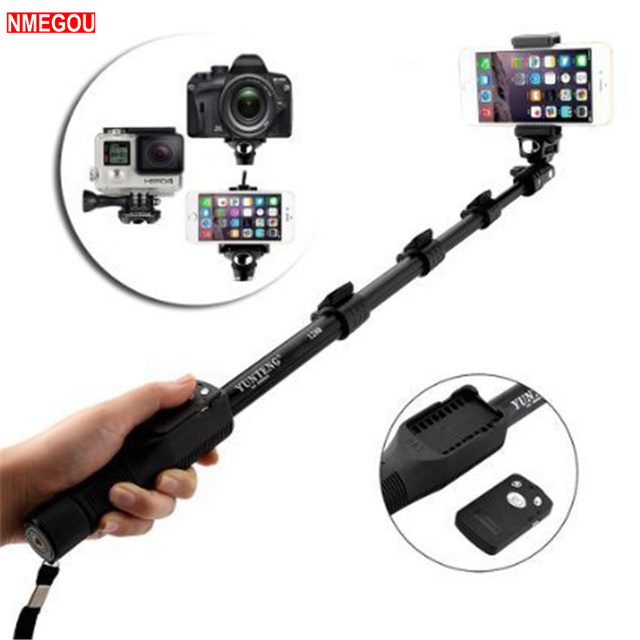 lowest price bcd69 ea3a4 US $11.99 25% OFF|Yunteng Yt 1288 Selfie Stick Bluetooth Monopod Extendable  Handheld Tripod for IPhone X 8 7 10 6 Xiaomi Wireless Long Selfiestick-in  ...