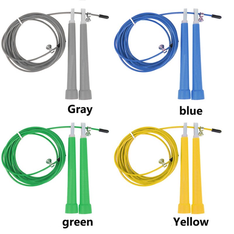 3M Adjustable Length Skipping Ropes Made of Steel Wire Covered with PVC 2