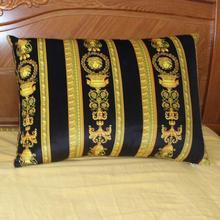 Оптовая Продажа High End Европе классический Royal Palace черного и золотого цвета Pillow Case чехол 2017 Новый дизайн кровать диван кресло автомобиля подушки, PL1706 #
