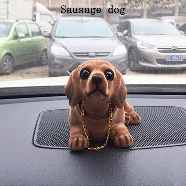 Online Shop Cute Dog Car Ornament Shaking Head Doll Car Interior