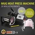 Máquina de sublimación de transferencia de prensa de calor taza para latte de café Digital