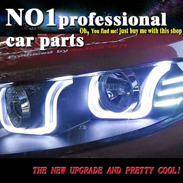 OUMIAO стайлинга автомобилей для Ecosport фары 2014 2016 Новинка Ecosport светодиодный фар DRL Bi Xenon объектив высокого ближнего парковка туман лампа