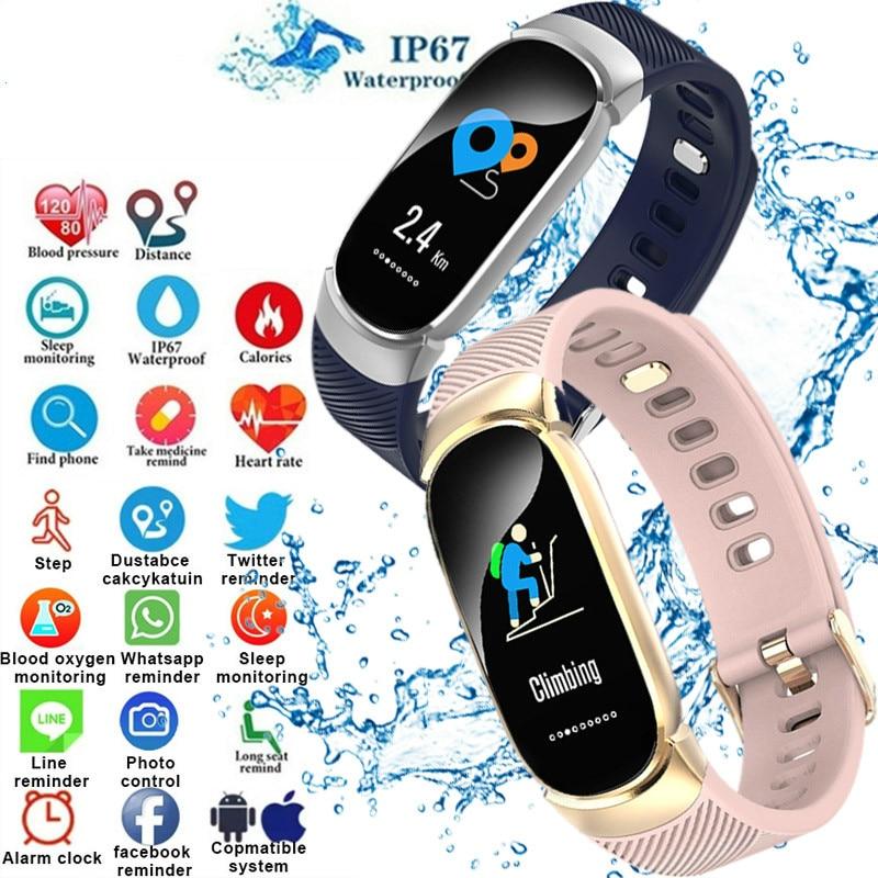 Qw16 Smart Bracelet Watch Men Women Heart Rate Monitor Waterproof Fitness Tracker Bluetooth Sport Smart Watch Pk Hua Wei Dand Demand Exceeding Supply Watches