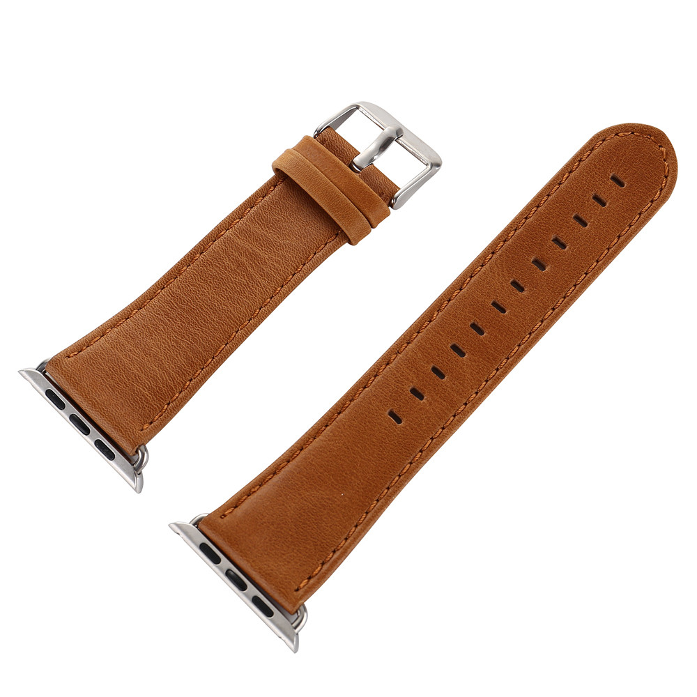Permalink to Watchbands Leather Watch Band Leather Buckle Wrist WatchBand Strap Horses Belt for Apple Watch 38/42mm For iwatch