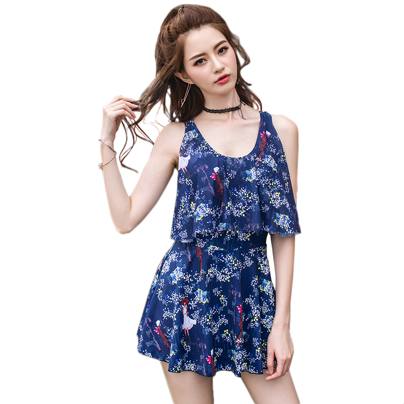 Push Up Beach Dress Print Swimwear Female One Piece Swimsuit Ladies Newest Bathing Suit 2017 Swim Wear For Women Beachwear Sexy 2017 sexy push up dress one piece suit boxers pleated show thin swimsuit bathing suit for women girl swimwear beachwear m 2xl