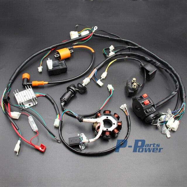 Schema Elettrico Quad 110 : Completo impianto elettrico quad atv 150cc 200cc 250cc 300cc 3 fori