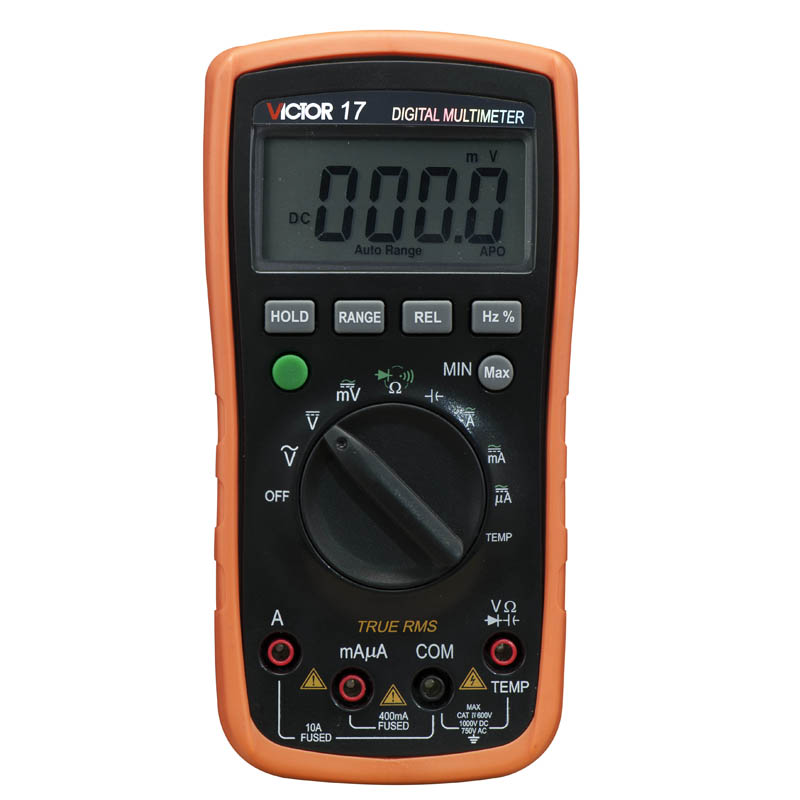 Digital Multimeter VC17 AC/DC VICTOR 17 Mini Portable Handheld Multimeter Auto range capacitance 1000uF super 15 17B aimo m320 pocket meter auto range handheld digital multimeter