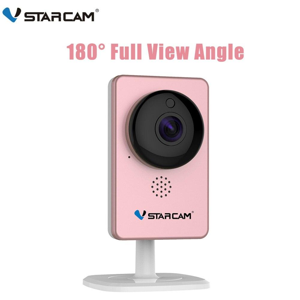 VStarcam WiFi Mini cámara panorámica infrarroja de visión nocturna inalámbrica de movimiento alarma Monitor de vídeo de la cámara IP C60S rosa
