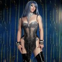 Sparkly Black Tassel Bodysuit Women Birthday Celebrate Costume Female Singer Bling Tassel Bodysuit Performance DS DJ Dance Wear