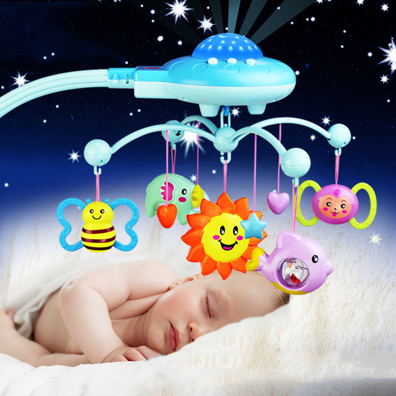 Baby ABS Crib Mobile Bed Bell Car Seat Toy Sound Holder Arm Bracket Pendant with Ring Music YH-17