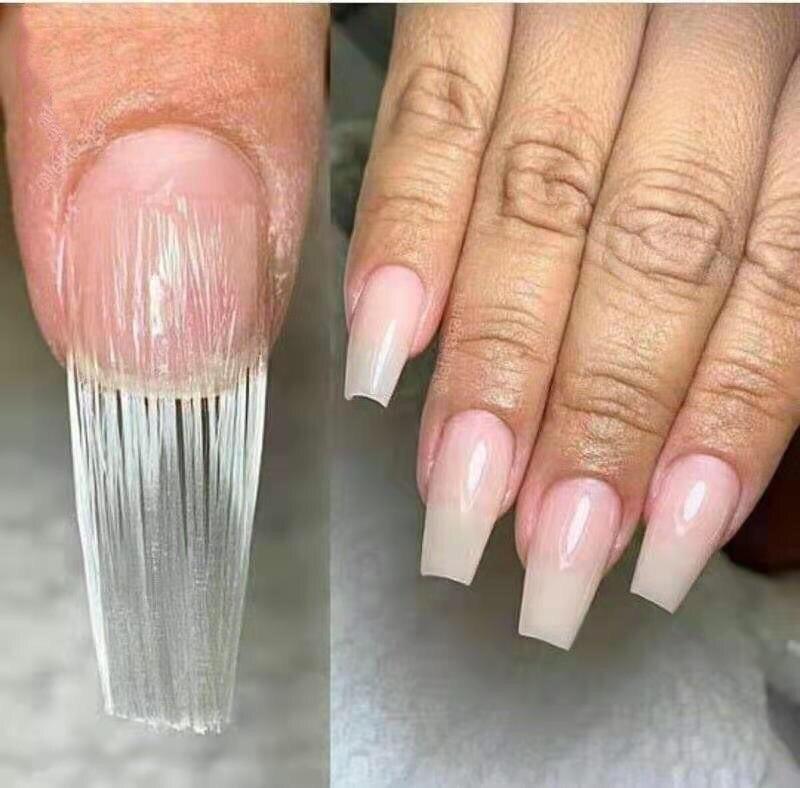 US $1 59 20% OFF|Nail Extension Glass Fiber for Nail Silk Wrap Nail Form  Acrylic Tips Nail Salon Helps Repairs Broken Nails 10pcs/Pack-in False  Nails