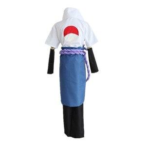 Image 5 - ナルトうちはサスケコスプレ衣装第三世代着物フルセット