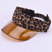 Модная детская леопардовая пластиковая Кепка с солнцезащитным козырьком для девочек от 2 до 8 лет; летняя кепка с козырьком для путешествий; цвет коричневый, серый