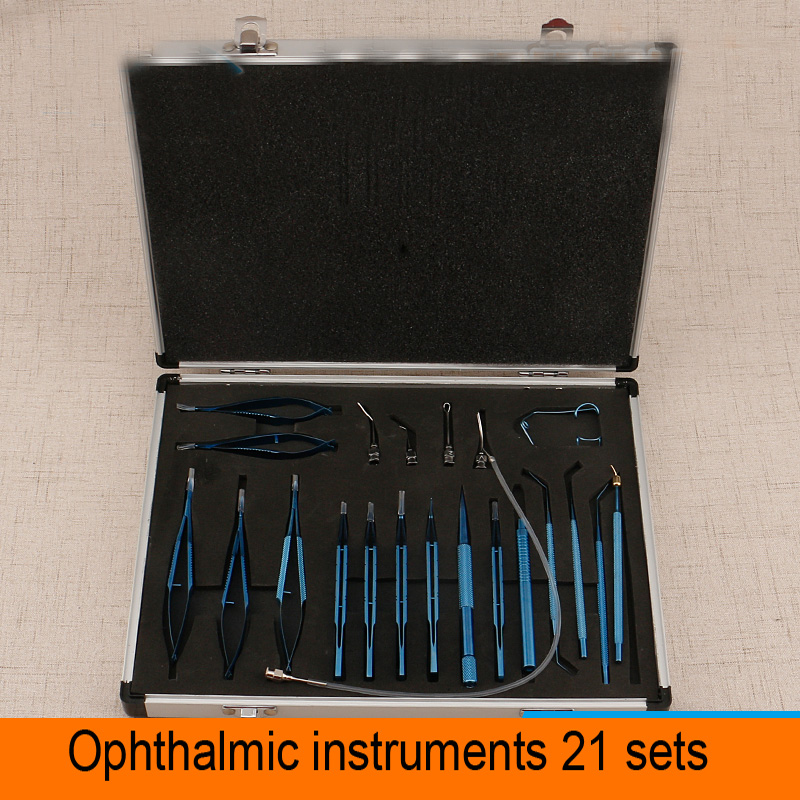 Makeup tools/accessories Double eyelids and tools Microsurgery Instruments Titanium 21 Sets Eye Surgery Tools instruments spatula tarsus gland curettage double head stainless steel scraping teeth titanium alloy surgery tools