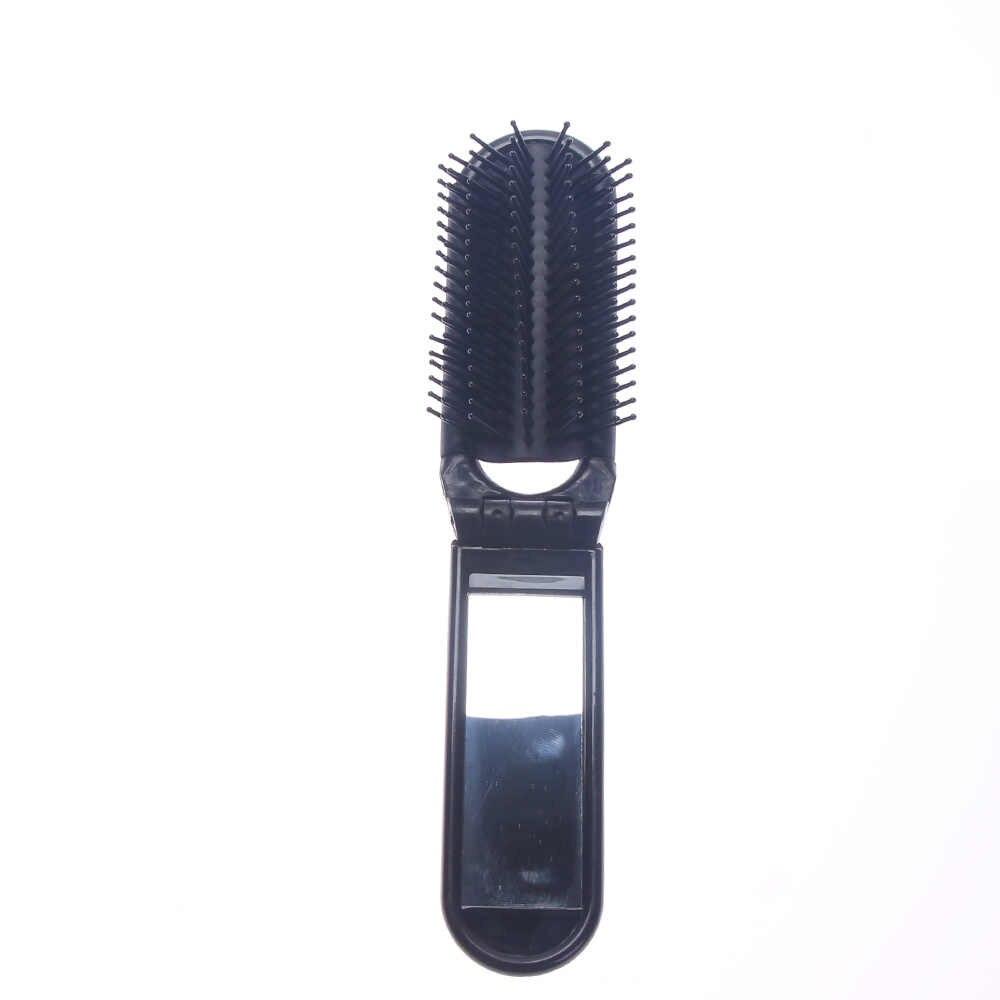 専門の旅行髪櫛ポータブル折りたたみ櫛でミラーコンパクトポケットサイズ財布トラベル櫛スタイリング髪のツール