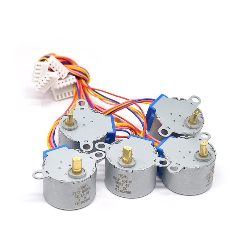 With Plastic Box 10pcs/lot 28BYJ-48-5V 4 Phase Stepper Motor+ Driver Board ULN2003 + Female To Male Dupont Cable For Arduino
