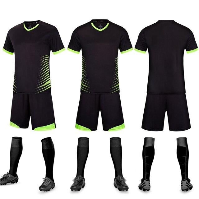 00090e37847 2018 2019 New Soccer Jerseys Sets Kids Adult Survetement Football Jerseys  Kits Blank Football Training Set