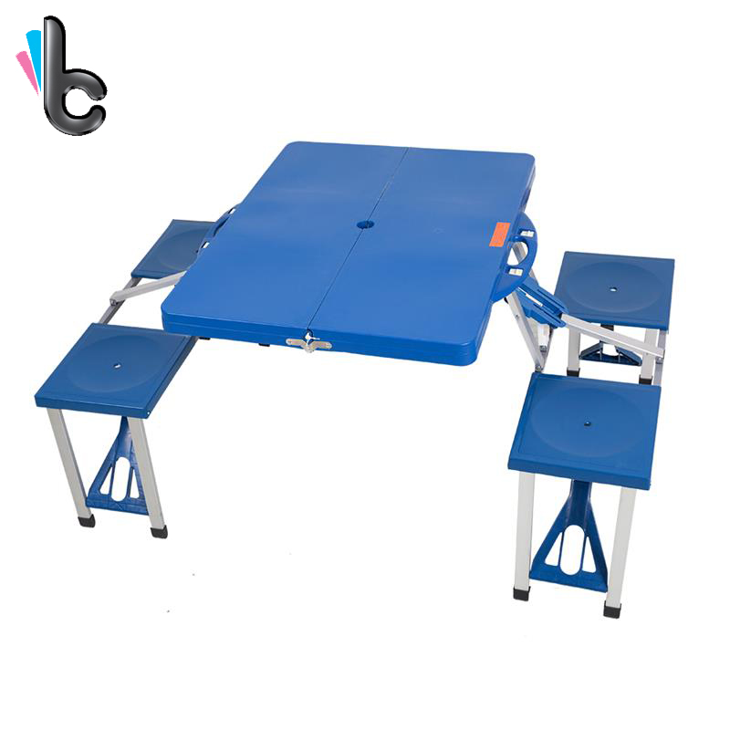 Outdoor Folding Picnic Table With 4 Seats Portable 5 Piece