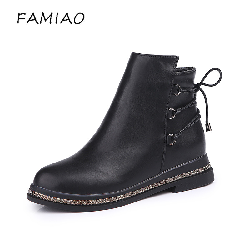 FAMIAO women boots cross tied spring ankle boots for women winter boots chaussure femme 2017 boots women botas mujer 2017 fashion women boots botas mujer zapatos mujer ankle boots for women thigh high boots chaussure femme bottes femmes 2016
