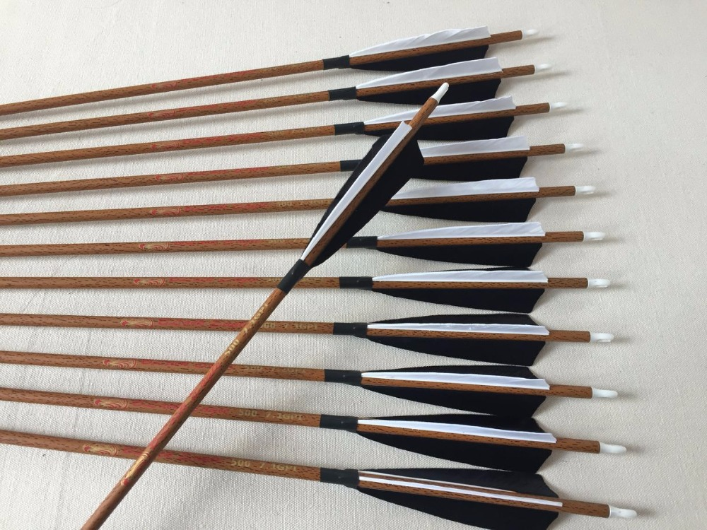 US $49 99 |Wood skin Carbon arrow Spine500 with 5