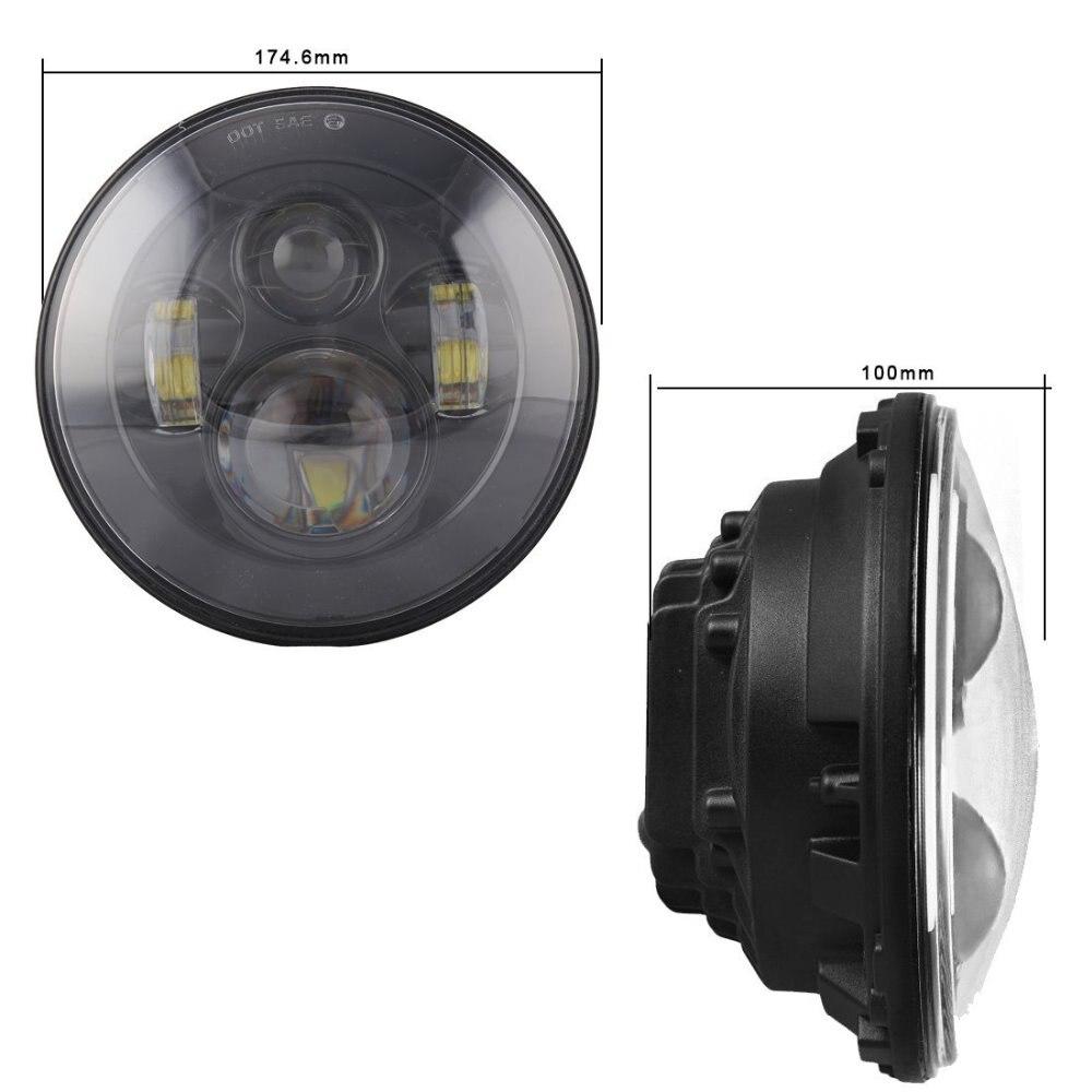 7-дюймовый круглый светодиодные фары с H4 H13 Plug высокое ближнего света светодиодные фары для джипов Wrangler JK CJ Landrover 7 светодиодные фары