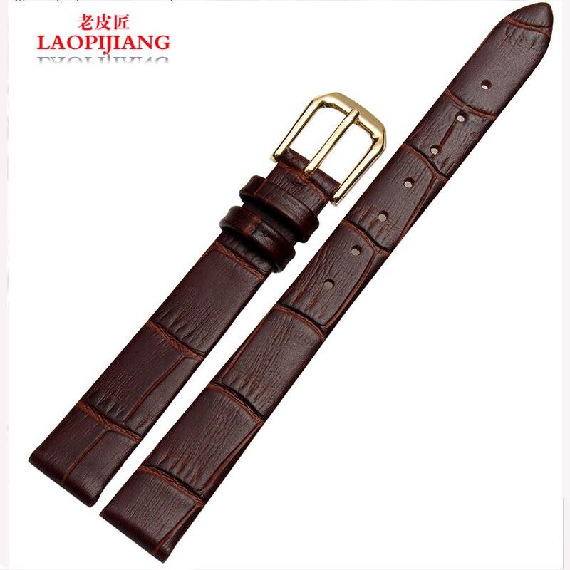 dc93c9b73a0d Laopijiang кожаный ремешок Женский адаптер Тит часы аксессуары 10 | 12 | 14  мм Мода ремень