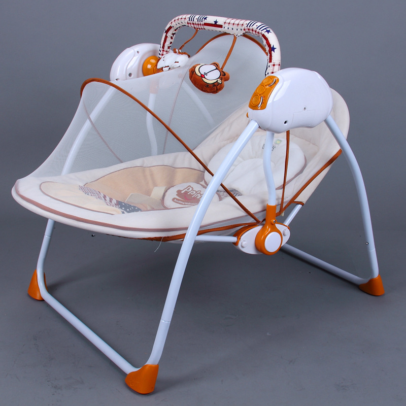 2017 Primi  Electric rocking  Baby Cradle  Swing Bed To Sleep 2017 new babyruler portable baby cradle newborn light music rocking chair kid game swing