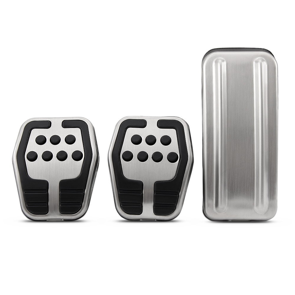 Image 2 - Car styling Stainless steel Car Pedal Pads Cover MT case For Ford Focus 2 MK2 3 4 MK3 MK4 Kuga Escape ST 2005 2017-in Pedals from Automobiles & Motorcycles