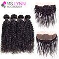 Lace Frontal Closure Kinky Curly Virgin Hair No Mix Peruvian Virgin Hair 5 Bundles Full Frontal Lace Closure 13x4 Peruvian Hair