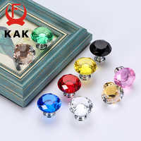 KAK Diamond Shape Crystal Glass Cabinet Knobs and Handles Dresser Drawer Knobs Kitchen Cabinet Handles Furniture Handle Hardware