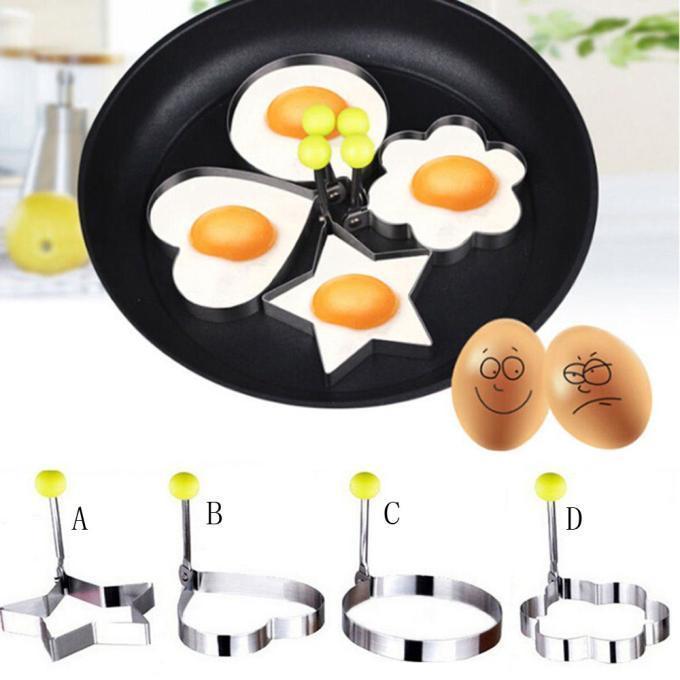 Hot Fried Egg Pancake Shaper Stainless Steel Shaper Mould Mold Kitchen Rings Heart Kitchen Tool