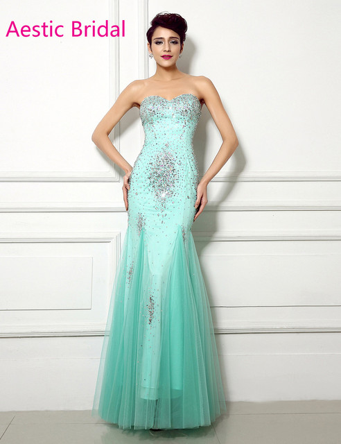 Imported Party Dress Mint Green Mermaid Sweetheart Strapless Tulle ...