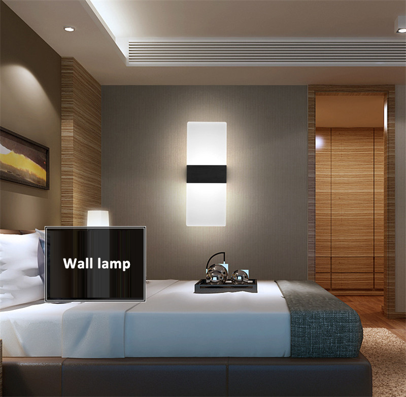 6W Led Acrylic Wall Lamp Light AC90 260V Wall Mounted ... on Wall Lighting For Living Room id=65555