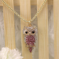 Fashion Necklace 2016 Fashion New Pure And Fresh And Contracted Long Full To Drill The Owl