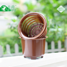 Double plastic flower pot succulents flower pot orchid flower pot цена