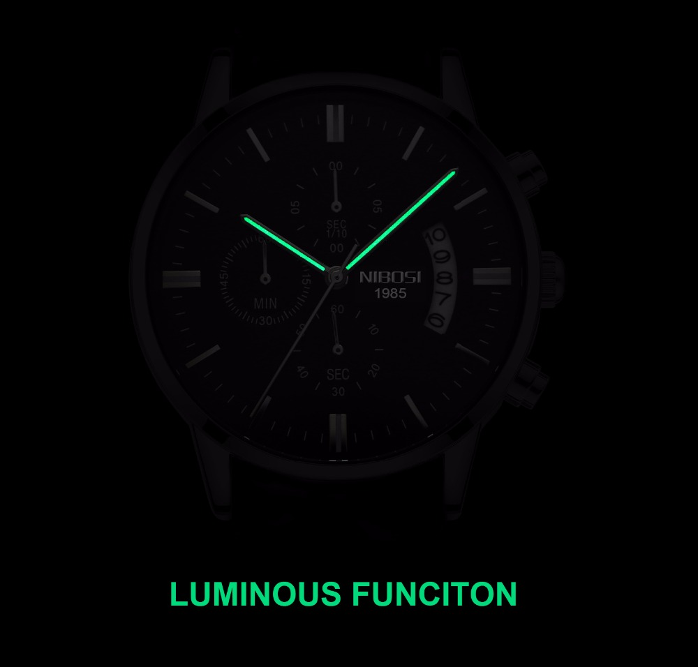 Relojes de hombre NIBOSI Relogio Masculino, relojes de pulsera de cuarzo de estilo informal de marca famosa de lujo para hombre, relojes de pulsera Saat 7
