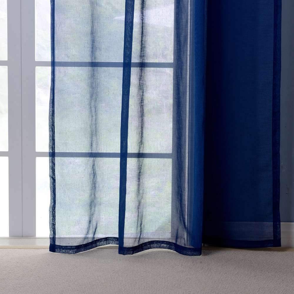 A Pair Tulle curtains for living room blue cheap Curtains Tulle For ...