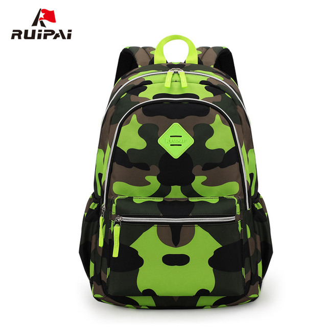 ruipai new small size fashion camouflage kid backpack bag school
