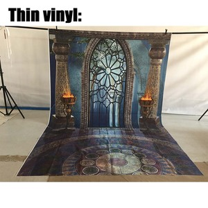 Image 3 - Фотофон Allenjoy для студийной фотосъемки фантазия Хэллоуин волшебное окно огонь раковина Сказочный фон дворец фотосессия